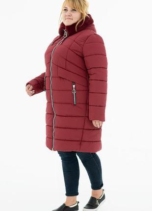 Пальто на синтепоне большого размера
