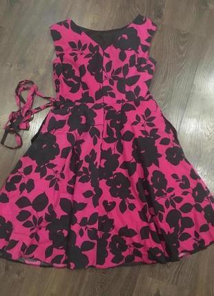 Шикарное хлопковое платье с пышной юбкой m&co