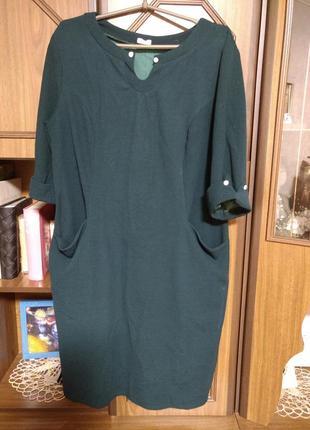 Платье бутылочного цвета