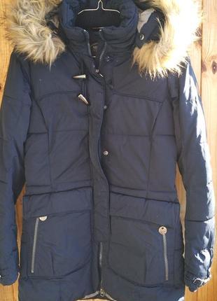 Утепленная зимняя куртка лёгкое полупальто northland professional