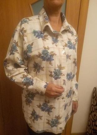 Тепленькая цветная рубашка