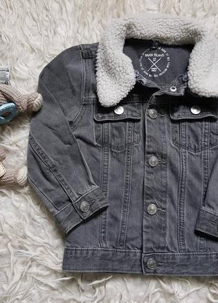 Шикарная куртка джинсовка парка river island на 2-3 года