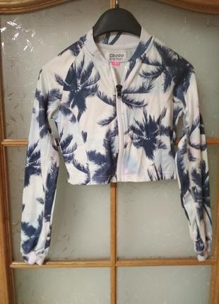 Укороченная куртка бомбер от cropp, p. xs