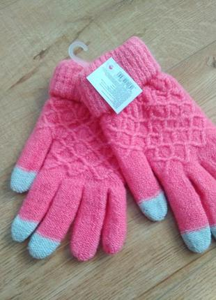 Красиві теплі  рукавиці /рукавички / качественные перчатки