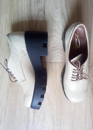 Шикарные туфли из нат. кожи