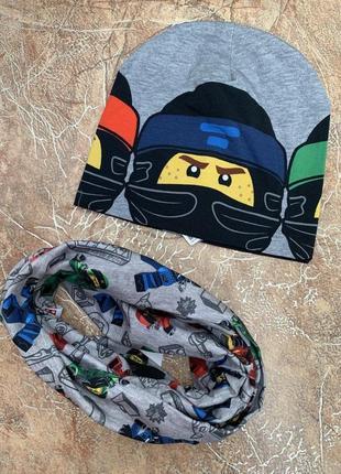 Комплект трикотажная шапка и хомут h&m нинзяго