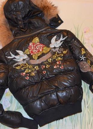 Эксклюзивная куртка  с вышивкой