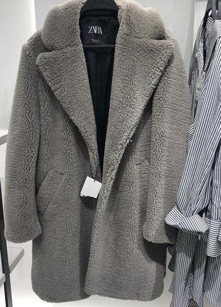 Пальто из искусственной овчины zara