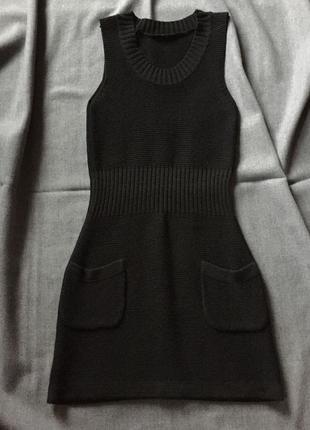 Платье-жилет из вязанного трикотажа