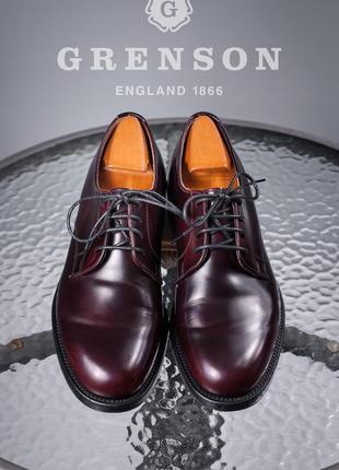 Дерби люкс класса grenson, англия 42,5р мужские кожаные туфли