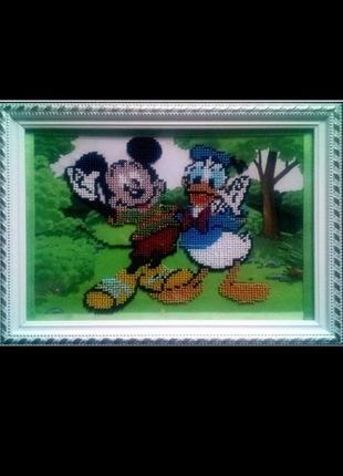 """Картина """" міккі та дональд """""""
