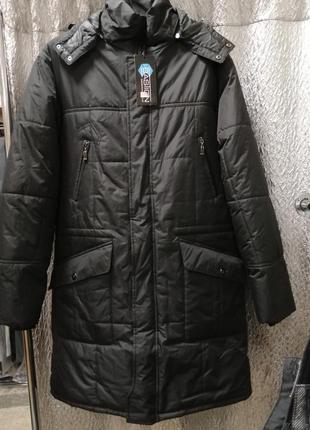 Мужское стеганное пальто, размер 50