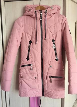 Куртка рожева