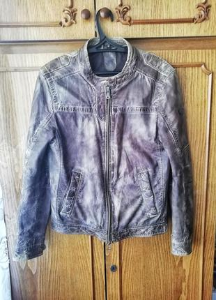 Шикарная кожаная куртка косуха от gypsy не allsaints g star diesel