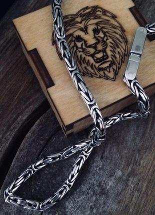 Серебряная цепочка лисий хвост( king)