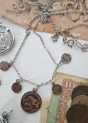 Колье, монеты, серебро