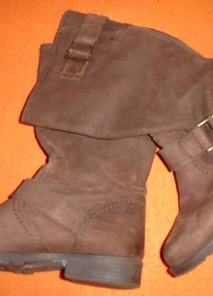 Фирменные next кожаные демисезонные сапоги 34 p для девочки подростка