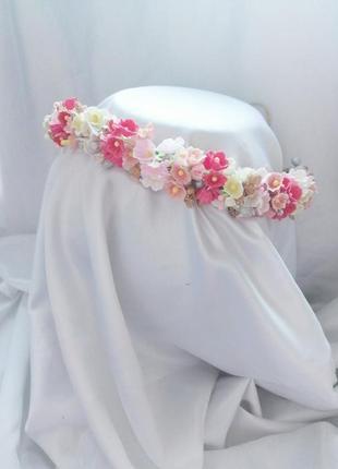 Нежный веночек веночек с мелкими цветами венок с незабудками бутоньерка