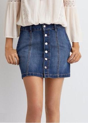 Джинсовая юбка #aeo denim skirt