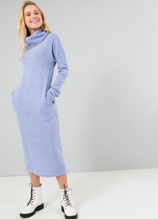 Длинное платье season ангора голубое