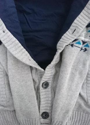 Очень теплая кофта мальчику бренд джимбори gymboree .4 фото