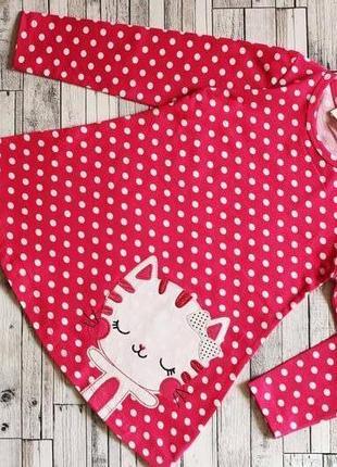 Крутое платье в горох для девочки кот котик