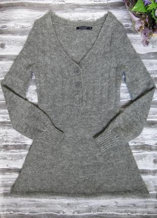 Теплое вязаное платье, туника  в составе акрил , мохер atmosphere размер 46-48