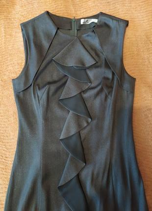 Сіре плаття з металічним блиском