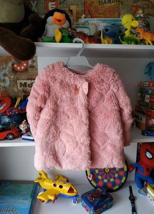 Шикарная пальто шубка nutmeg на 2-3 г, 92-98 см
