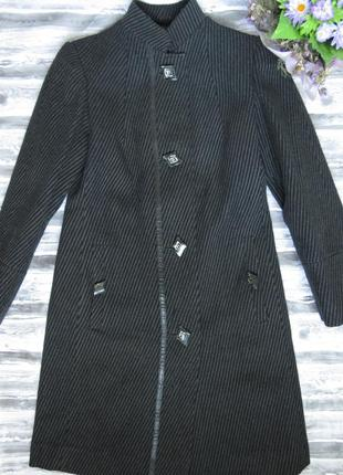 Драповое приталенное  демисезонное пальто 46 размер