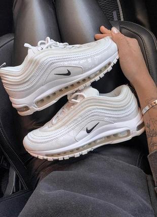 Шикарные женские кроссовки nіke air max 97 white reflective 😍 (осень/ весна)