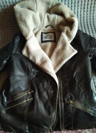 Кожаная куртка, курточка на овчине levi strauss