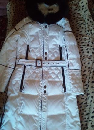 Женский пуховик белоснежный 48-50 р. snow beauty