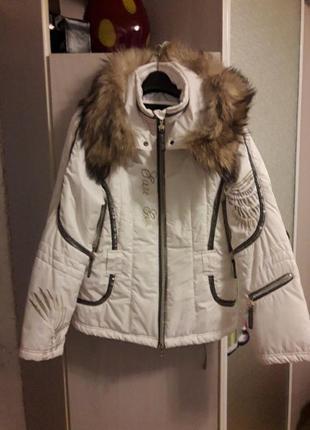 Куртка зима белая.
