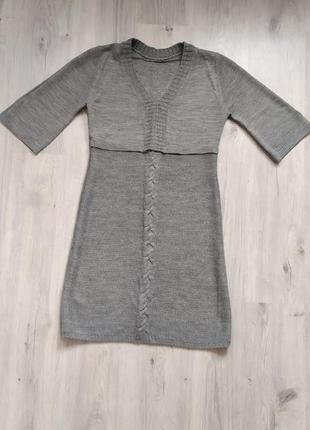 В'язане плаття + в подарунок гольф-сіточка
