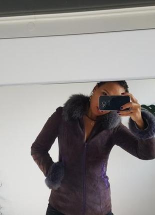 Куртка замшевая на утеплителе