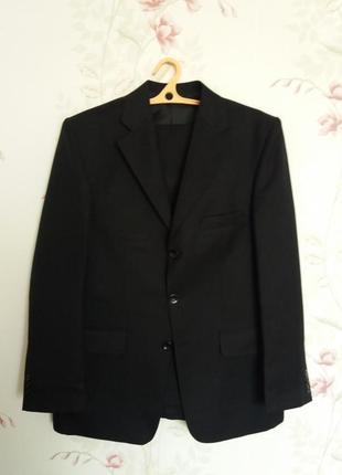 Классический костюм мужской, чёрный, р.48