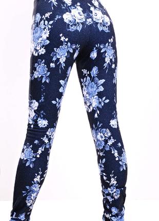 Классные леггинсы под джинс с цветами