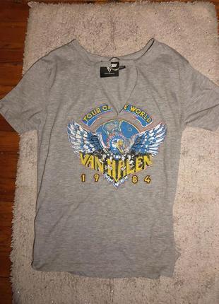 Винтажная футболка , футболка с принтом рок