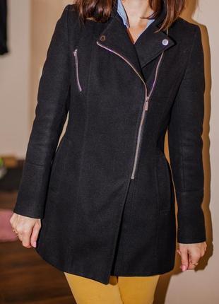 Драповое пальто new look косуха размер s на худенькую девочку, подростковое