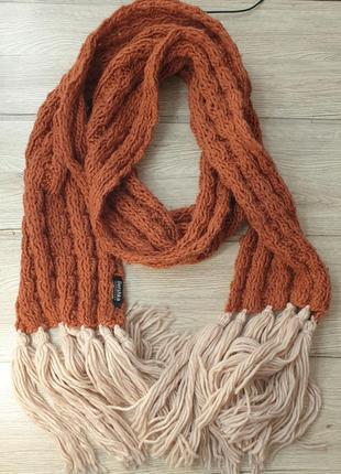 Шикарный вязаный шарф bershka