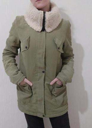 Куртка женская на овчине, осенняя куртка