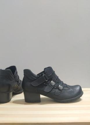 Натуральные туфли с заклепками bellissimo. кожаные ботильоны в стиле бохо