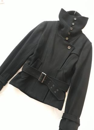 Stills новое брендовое#эксклюзивное#шерстяное пальто#куртка#косуха, 80% шерсть#шелк.