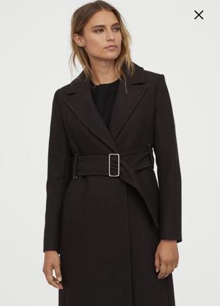 Пальто с поясом приталенное плащ h&m оригинал классическое
