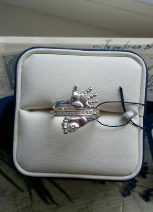 Стильное кольцо серебро 925 пробы