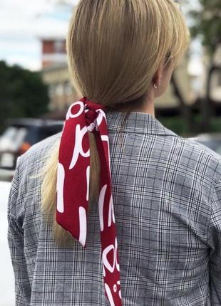 Шарфик платок на шею, на сумку , платки - ленточки для волос тренд 2019 года
