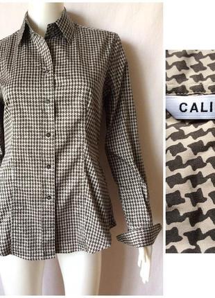 #розвантажуюсь caliban italy стильная итальянская рубашка принт гусиная лапка