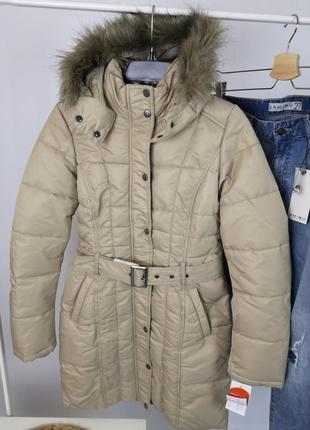 Бежевая куртка tom tailor размер xs