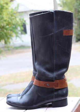Кожаные сапоги в стиле бохо 40-41 оригинал